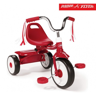 紅騎士折疊三輪車(彎把)