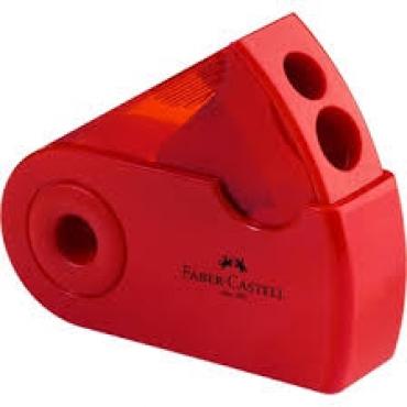 旋轉雙孔削鉛筆器 (紅色、黑色、藍色)