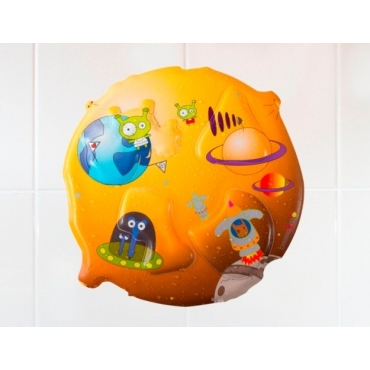 beezeebee洗澡拼圖 ﹣外太空篇(外包裝紙板有黃漬斑點,如照片)