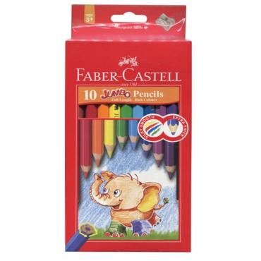 學齡大六角油性色鉛筆10色