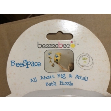 beezeebee洗澡拼圖 ﹣黑夜篇(外包裝紙板有黃漬斑點,如照片)