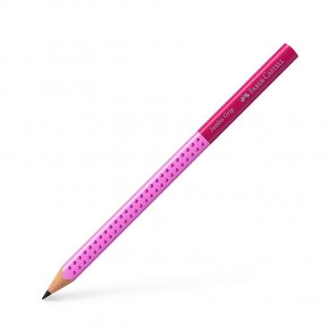 學齡大三角粗芯雙色鉛筆-粉色